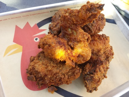 Placemats: clever with their fried chicken.