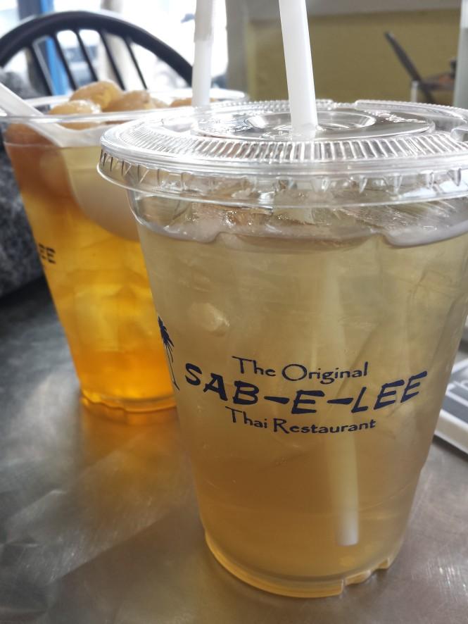 Lemongrass Ice Tea and Longan Juice
