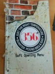 356 Soft Opening Menu Cover
