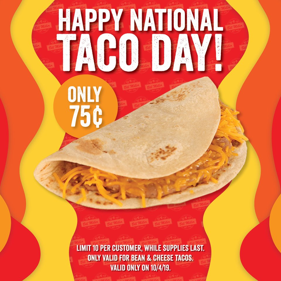 National Taco Day - Bill Miller Bar-B-Q