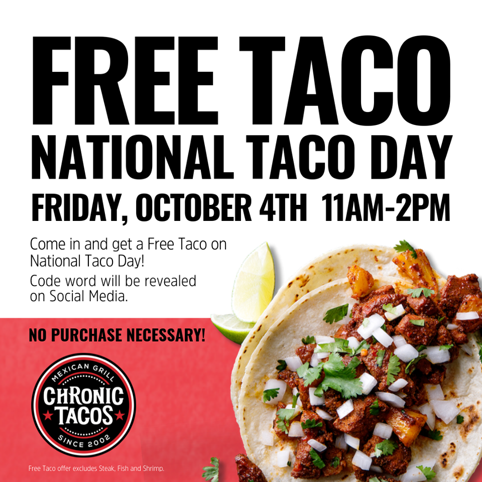 National Taco Day - Chronic Tacos